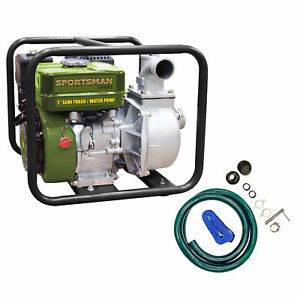 Sportsman Series 2 Inch Gasoline Semi Trash Or Water Pump With Complete Hose Kit