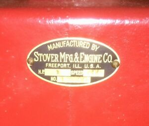 Stover Type k 1 Hp On Cart Has Cream Separator Pulley 1910