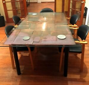 Custom Glass Copper Conference Dining Table For Less Than Glass Cost