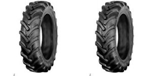two Galaxy 8 16 8x16 Traction Lug Tractor Tires Tubeless 6 Ply Rated
