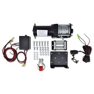 Vidaxl Electric Winch 3000lb Atv Cable Recovery Trailers Truck Plow Fairlead