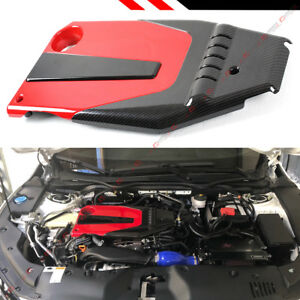 For 2016 2021 10th Gen Honda Civic Jdm Red Black Type r Style Engine Valve Cover