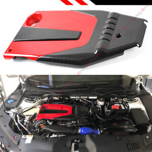 For 2016 2020 10th Gen Honda Civic Jdm Red Black Type r Style Engine Valve Cover