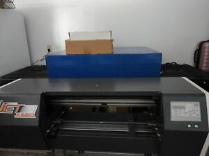 Fast T Jet Jumbo Direct To Garment Printer used Logos 8ft Conveyor used