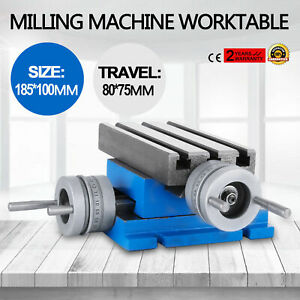 Milling Machine Worktable Cross Slide Table 4 x7 3 accurate Vise For Bench Dri