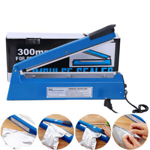 12 300w Hand Sealer Impulse Heat Manual Seal Machine Plastic Bag Power saving