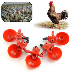 5pcs Automatic Bird Coop Feed Poultry Water Drinking Cups Plastic Chicken Tool