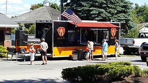 Food Trailer Concession Custom Made Food Truck With Yoder Competition Smoker