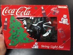 Coca Cola - Light Set As Soda Machines And Bottles Works - In Box B78