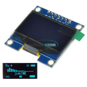 Blue 1 3 Spi Serial 128x64 Oled Lcd Display Screen Module For Arduino Uno