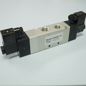 1 2 5 3 Way Electric Control Solenoid Valve Dc12v Double Coil 4v430c 15