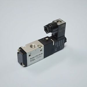 1 8 Pneumatic 3 2way Electric Directional Control Solenoid Valve 3v110 06 ac110