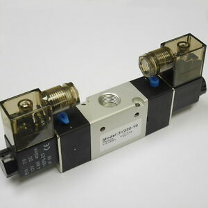3 8 Pneumatic 3 2 Way Electric Control Solenoid Valve Dc12v Double Coil 3v320 10