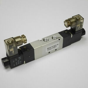 1 8 Pneumatic 5 3 Way Electric Control Solenoid Valve Dc12v 4v130c 06 npt