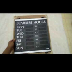 Open Sign Business Hours