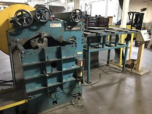 Hess 3r120m2a 12 12 3 Roll Rim Ring Roller W Infeed Conveyer 7 5 Hp