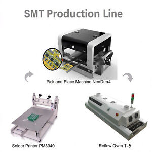 Smt Line Auto Pick And Place Machine Neoden4 reflow Oven stencil Printer Pm3040