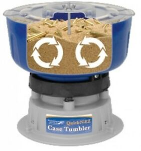Frankford Arsenal Quick-N-EZ Case Tumbler 110V Fast Brass Bullet Cleaning Blue
