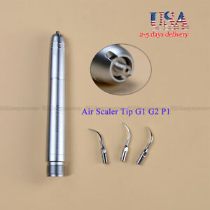 Usa Nsk Style Dental Ultrasonic Air Scaler Handpiece Sonic Perio Hygienist 3tip