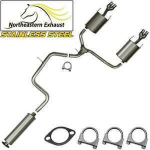 Stainless Steel Resonator Y Pipe Muffler Exhaust System Fits 2003 08 Grandprix