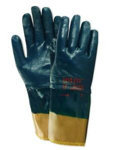 Ansell Hylite 47409 Nitrile Coated Gloves Size 9 12 Pairs