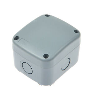 Weatherproof Plastic Grey Junction Box Electrical Enclosure Project Case Ip66