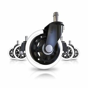 Office Chair Caster Wheels set Of 5 Heavy Duty Safe For All Floors Incl