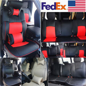 Full Set Car Seat Cover 5 seats Pu Leather Kit For Dodge Ram 1500 2500 2009 2018