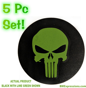 Punisher Wheel Center Cap 2 5 Overlay Decals Choose Your Colors 5 In A Set