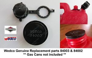 Rear Vent Cap 84003 stopper Seal Disc 84002 Wedco Briggs Stratton Gas Can Parts