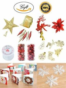 Christmas Tree Decor Set 11 Accessories Red And Gold