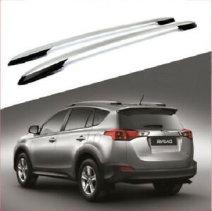 For 13 18 Toyota Rav4 Silver Roof Rack Side Rails Luggage Carrier Bar Oe Style