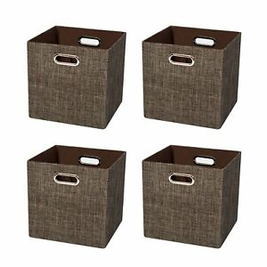 Posprica Cube Organizers Storage Bin Basket Boxes Container Cabinet Drawer For