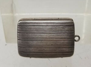 Antique Sterling Silver Birmingham England Vinaigrette Hallmarked Box Pendant