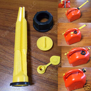 Midwest Fix Your Gas Can Kit Spout Parts Screw Cap Collar Stopper Yellow Vent