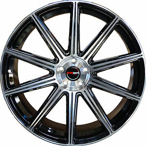 4 Gwg Wheels 18 Inch Black Machined Mod Rims Fits Honda Accord V6 2000 2002