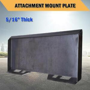 5 16 Thick Quick Tach Attachment Mount Plate For Skid Steer Bobcat Kubota Hd