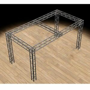 Global Truss 10 x20 x10 Trade Show Booth With Ujb Corners And Center Beam