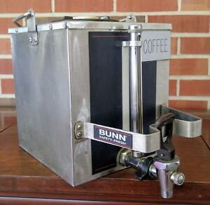 Bunn Stainless Steel Coffee Server Dispenser One Gallon W Bail Handle