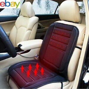 Best Winter Car Heated Seat Cushion Cover Auto 12v Heating Heater Warmer Pad New