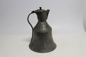 Antique Old Primitive Wooden Canteen Iron Flask Keg For Water
