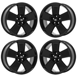 21 Chevrolet Camaro Ss Black Wheels Rims Factory Oem Set 4 5551
