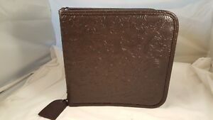 Jim Holtz Leather Idea ology Scrapbook 3 Ring Stamp Binder File Case With Zipper