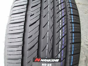 2 New 285 45zr19 Inch Nankang Ns 25 All season Uhp Tires 45 19 R19 2854519