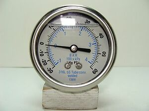 302lfw 254cd 2 5 Glycerin Filled Ss 316 Internal Gauge 1 4 Npt Cbm 30 0 60 Psi