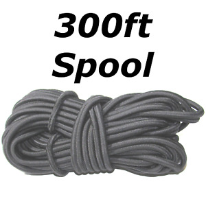300ft 3 8 Black Shock Cord Marine Grade Bungee Heavy Duty Tie Down Stretch Rope