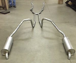 1966 Ford Thunderbird Dual Exhaust Aluminized Without Resonators 390 Engines
