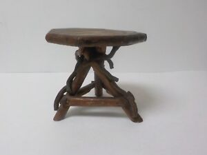 Vintage Hand Crafted 5 5 Doll S Country Primitive Twig Occasional Table 3