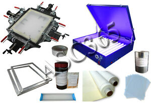 Manual Screen Printing Plate Making Kit Screen Stretcher 20 x24 Exposure Unit