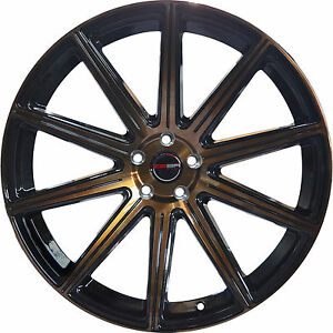 4 Gwg Wheels 20 Inch Staggered Bronze Mod Rims Fits Ford Mustang 2005 2014